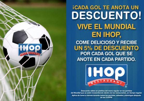 IHOP: 5% de descuento por cada gol durante los partidos del Mundial
