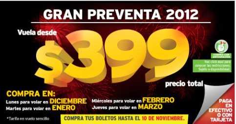Gran Preventa 2012 Vivaaerobus: boletos desde $399 de diciembre a marzo