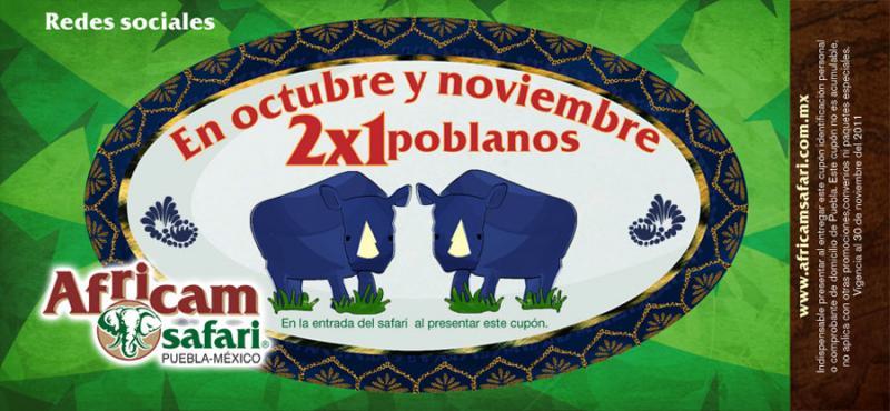 Africam Safari: 2x1 en la entrada