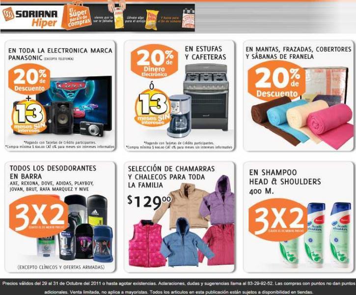 Soriana: 20% de descuento y 13 MSI en Panasonic, 3x2 en desodorantes y más.