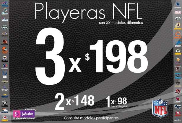 Suburbia: gratis toalla de tu equipo de la NFL al comprar dos productos NFL