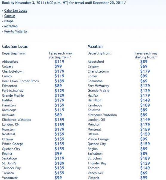 WestJet: boletos de playas mexicanas a Canadá desde $69 hasta las 4pm