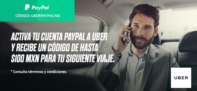 Uber: código de un viaje hasta por $100 al agregar PayPal a la cuenta