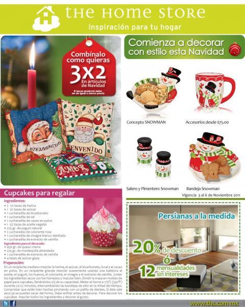 The Home Store: 3x2 en artículos de navidad y 20% de descuento en persianas a la medida.