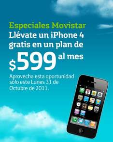 Movistar: iPhone 4 gratis en plan de $599 por 24 meses