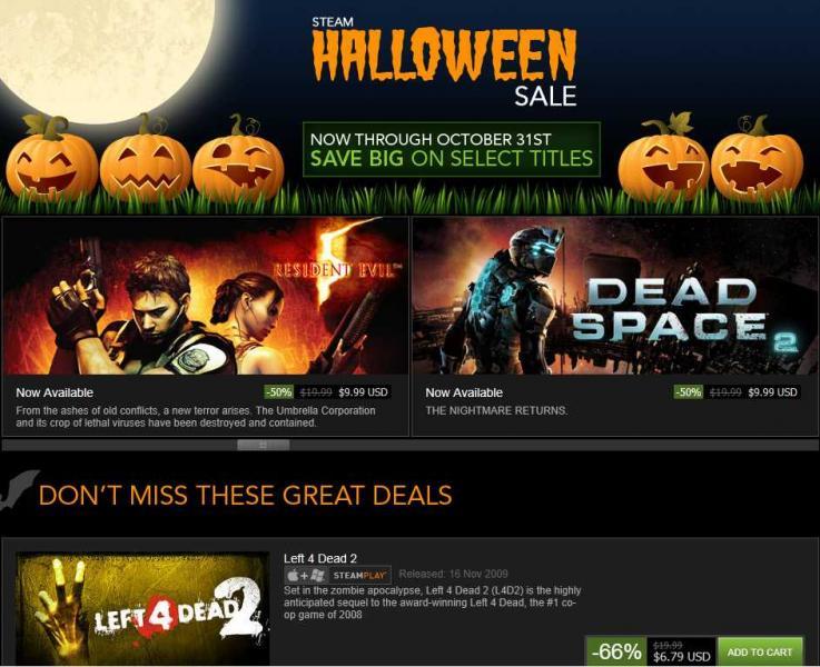 Juevos para PC: Left for Dead 2 $6.79 Bioshock 2 $4.99 Dead Space 2 $9.99 y mucho más