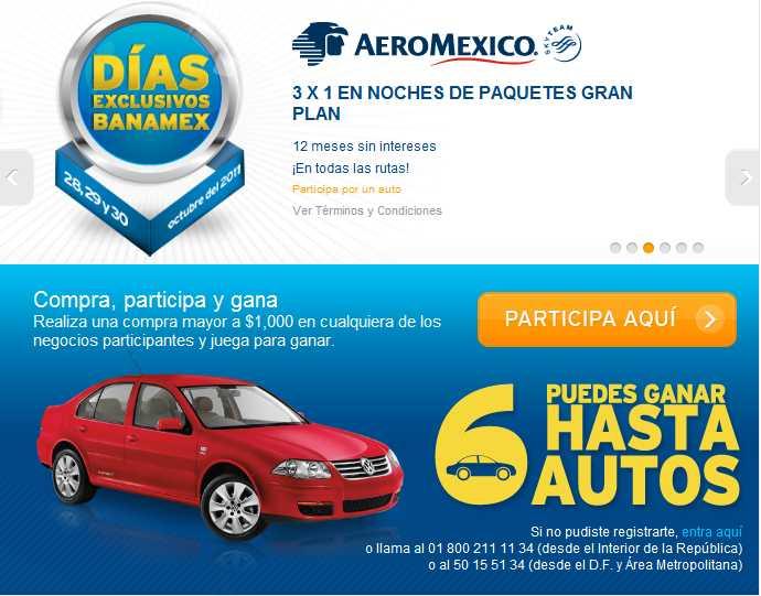 Días exclusivos Banamex Aeroméxico: 3x1 en noches de paquetes Gran Plan