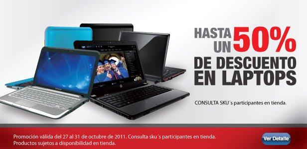 RadioShack: hasta 50% de descuento en laptops y 3x2 en audífonos