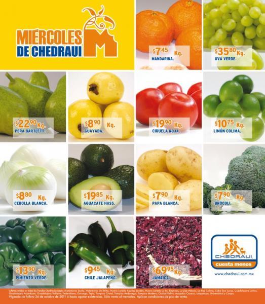Miércoles de frutas y verduras Chedraui octubre 26: lechuga romana $2.85, manzana en bolsa $9,85 y más