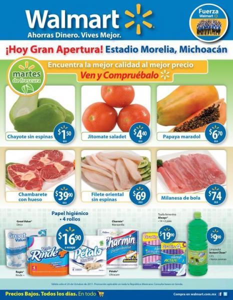 Martes de frescura Walmart octubre 25: chayote $1.50, papaya $6.70 y más