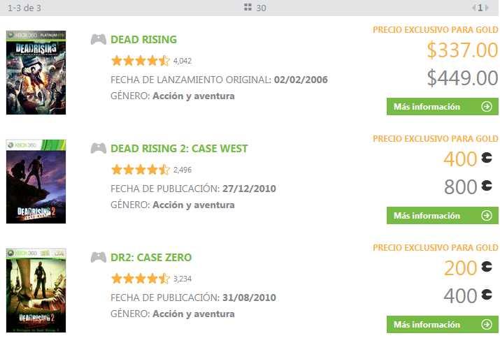 Oferta de la semana Xbox Live: Dead Rising y contenido en descuento