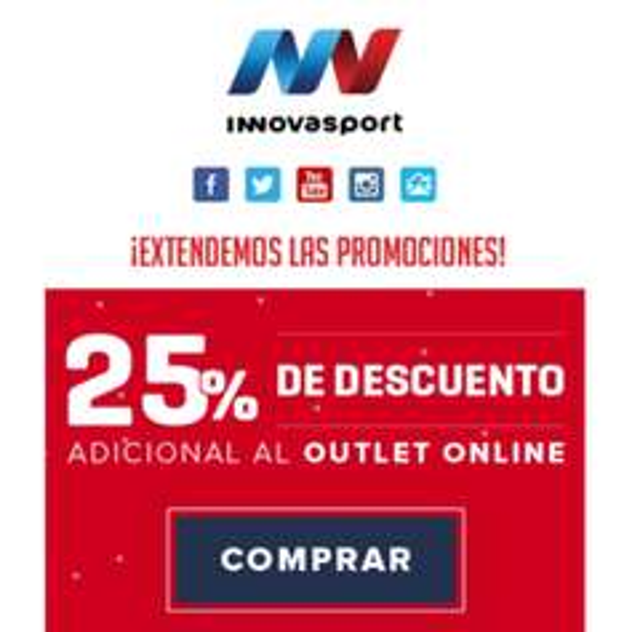 Innovasport: 25% adicional al outlet