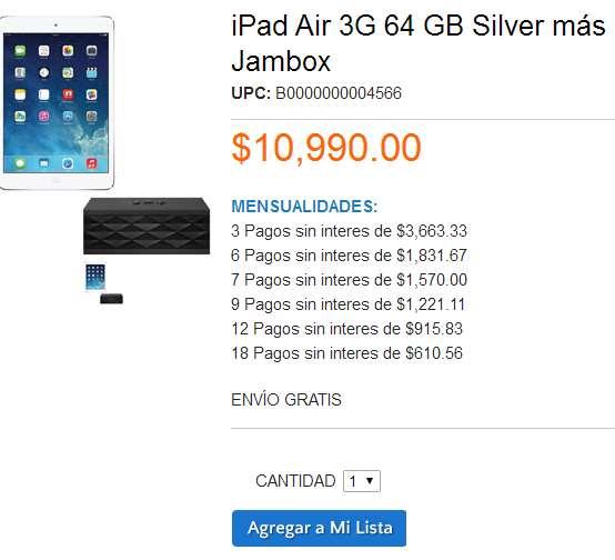 Walmart: iPad Air 64GB Wi-Fi + Cellular $10,990 + bocina de regalo + promoción PayPal día del padre