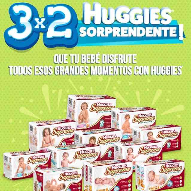 Farmacia San Pablo: 3X2 línea Huggies Supreme