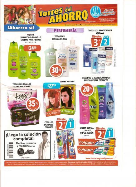 Folleto Farmacias Guadalajara: 3x2 en Mennen, Curity, Chocolates Nestlé y más