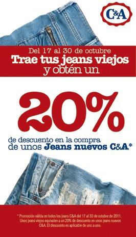 C&A: lleva tus jeans viejos y recibe 20% de descuentos en jeans C&A