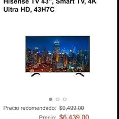"Amazon: Hisense TV 43"", Smart TV, 4K Ultra HD, 43H7C"