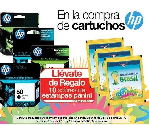 OfficeMax: gratis 10 sobres de cartitas del mundial comprando cartuchos HP