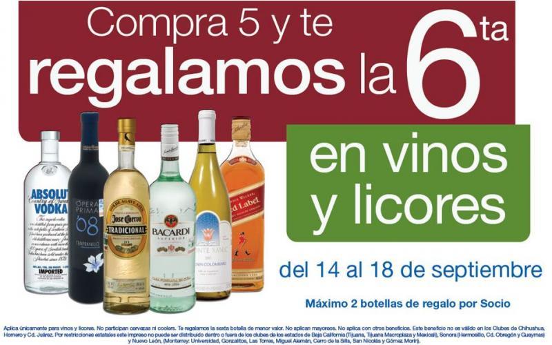 Sam's Club: 5x6 en vinos y licores