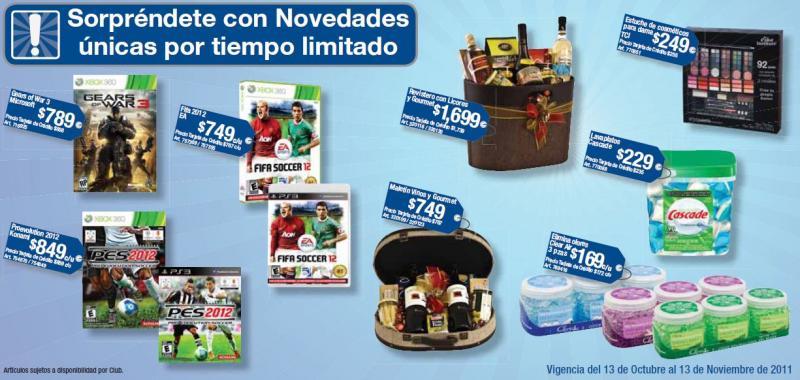 Cuponera Sam's Club: Gears of War 2 $789, FIFA 12 $749, descuentos en multifuncional, celulares, comida y +