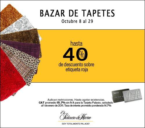 Palacio de Hierro: hasta 40% de descuento sobre etiqueta roja en tapetes