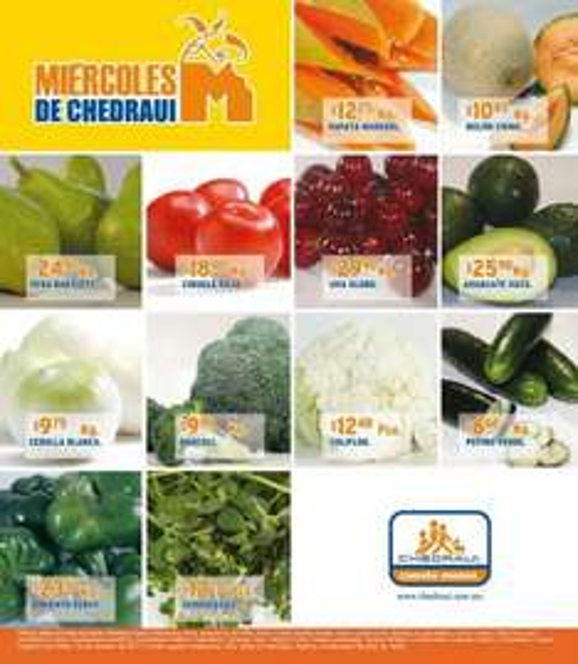 Miércoles de frutas y verduras Chedraui octubre 12: limón $2.45, papa $8.45 y más