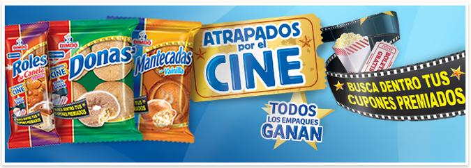 Cinépolis: cupones de 2x1 y otros premios dentro de envolturas de pan dulce Bimbo