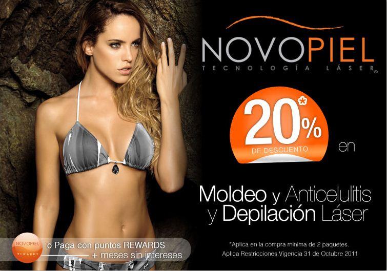 Novopiel: 20% de descuento en moldeo, anticelulitis y depilación láser