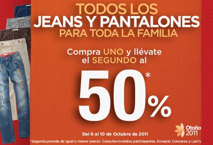 Suburbia: todos los jeans y pantalones lleva el segundo con 50% de descuento