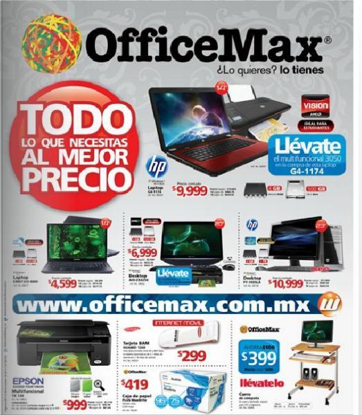 Folleto OfficeMax: multifuncional gratis comprando computadora y más descuentos
