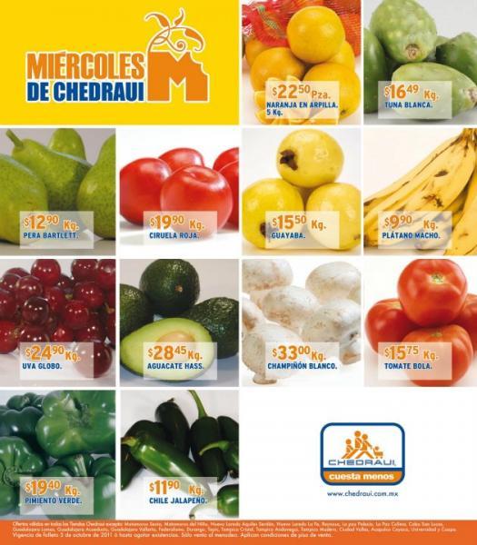 Miércoles de frutas y verduras Chedraui oct 5: elote $1.65, manzana $14.90 y más