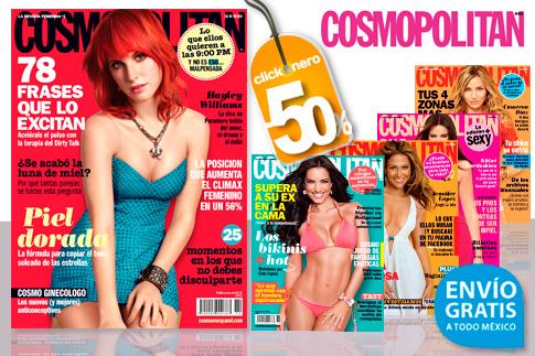 clickOnero: 12 ejemplares de revista Cosmopolitan con envío a $186