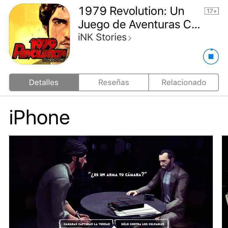 AppStore: Juego 1979: Revolution gratis!