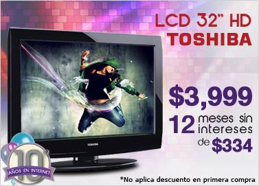 """Famsa: pantalla LCD Toshiba 32"""" a $3,999 y 12 meses sin intereses"""