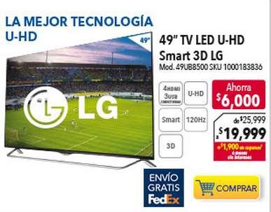 """Best Buy: pantalla 4K LG 3D 49"""" $19,999 y $3,800 de bonificación con Bancomer"""
