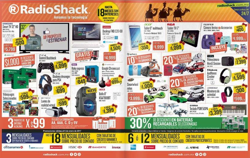 RadioShack: $1,000 desc. en consolas Xbox One; 20% desc. en drones selec; 20% desc. en juguetes selec; 20% desc. en juguetes de radiocontrol selec; 30% desc. en baterías recargables selec. y más