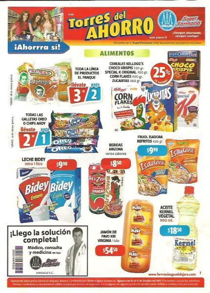 Folleto Farmacias Guadalajara: 2x1 en galletas Oreo y Chips Ahoy, cepillos Colgate y muchos descuentos más