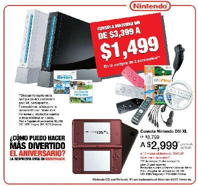 Ofertas de aniversario RadioShack: Wii a $1,499 con accesorios, 2x1 en accesorios para MP3, celulares y computadoras y +