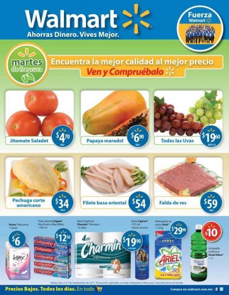 Martes de Frescura Walmart septiembre 27: jitomate $4.70, papaya $6.90 y más