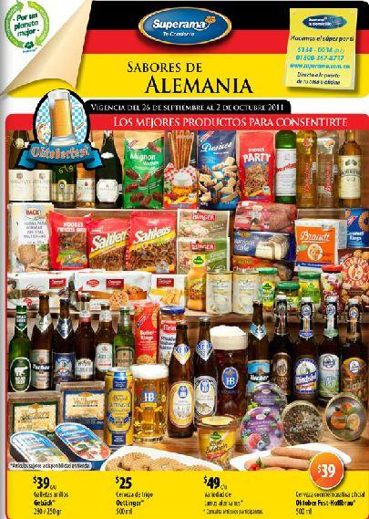 Folleto Superama: perón en bolsa $19.90 y festival sabores de Alemania