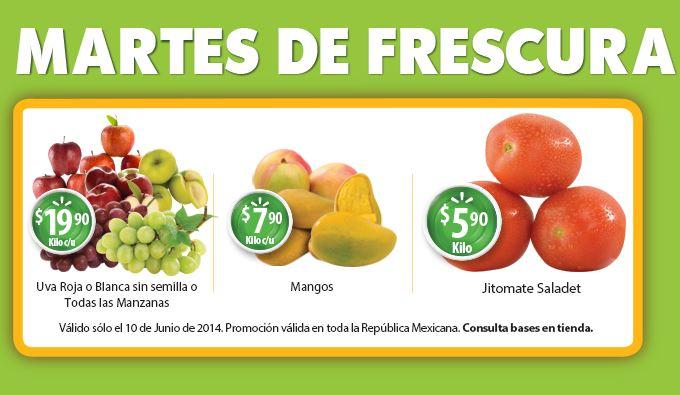 Martes de Frescura en Walmart junio 10: uva roja o blanca $19.90 y más