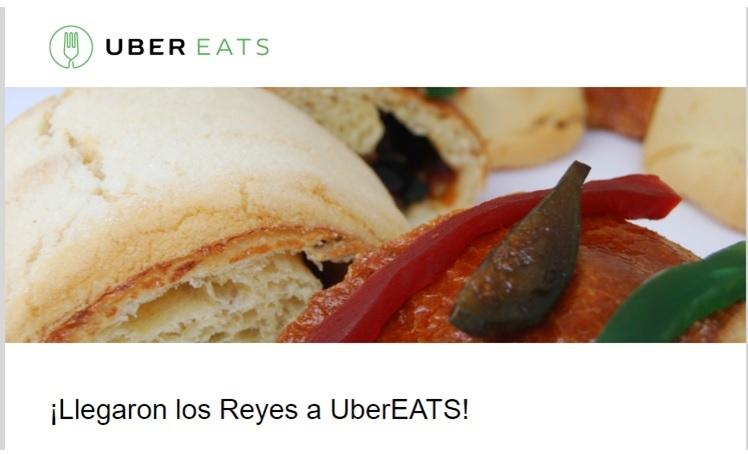 Uber Eats: ¡Llegaron los Reyes a UberEATS! Roscas de Reyes disponibles en algunas zonas de la ciudad.