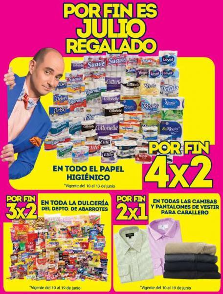 Julio Regalado en La Comer: 4x2 en papel higiénico, 2x1 en ropa de hombre y 3x2 en dulces