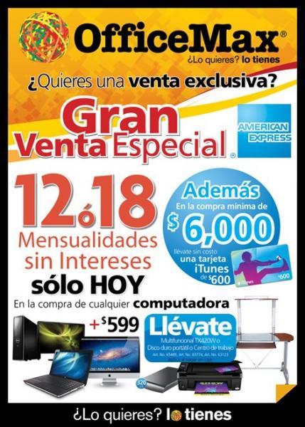 OfficeMax: día especial Amercian Express, MSI y otras ofertas