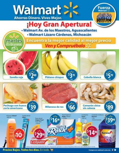 Martes de Frescura Walmart septiembre 20: plátano $3.70, sandía $2.40 y más
