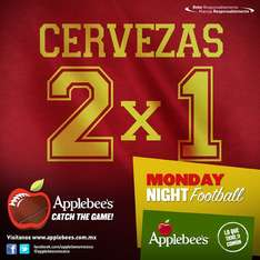 Applebee's: lunes de Monday Night Football cerveza al 2x1