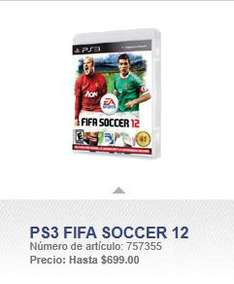 Sam's Club: FIFA 12 para PlayStation 3 a $699