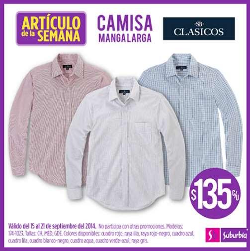 Suburbia: camisas de manga larga $135