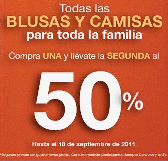 Suburbia: blusas y camisas, compra una y la segunda al 50% de descuento