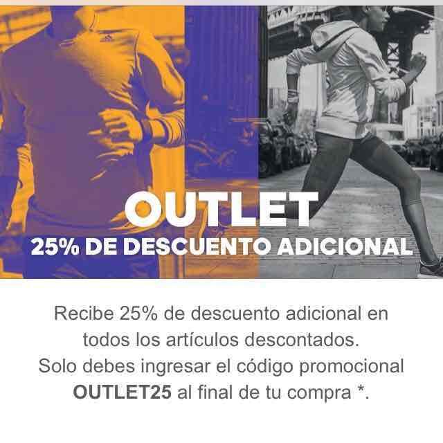 Adidas: 25% adicional en outlet